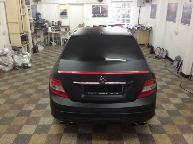Matte Black Mercedes Wrap London