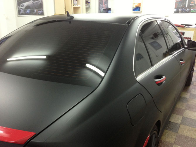 C-Class Window Tinting London by Wrapping Cars