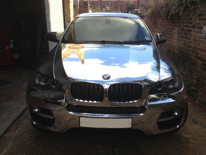 Bmw X6 Chrome Silver Wrap By Wrapping Cars London