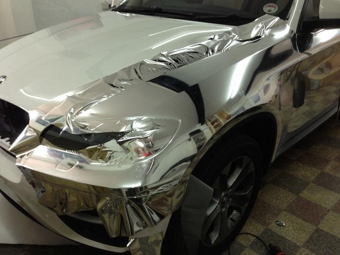 Bmw X6 Chrome Wrap