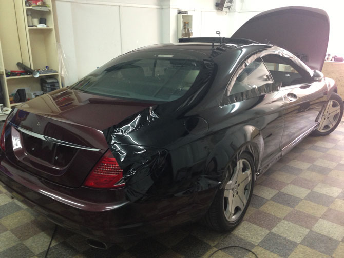 Window Tinting Birmingham >> cl600 black wrapping