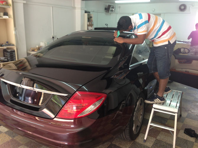 mercedes-cl-wrapping-in-progress