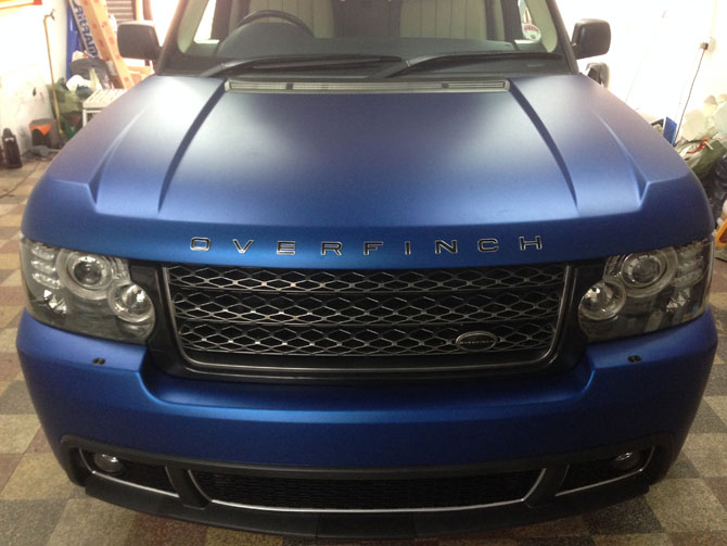 Range Rover Vogue Vinyl Wrapped Matte Metallic Blue By