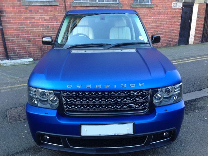Range Rover Vogue Vinyl Wrapped Matte Metallic Blue by ...