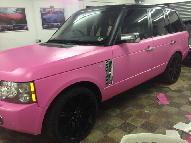 London Window Tinting >> pink range rover wrap