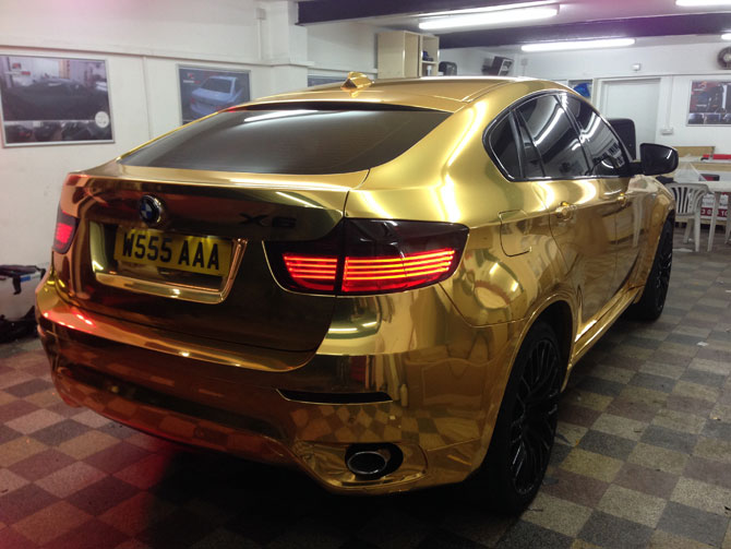 Bmw Chrome Gold Wrap