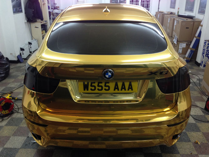 Gold Chrome BMW X6