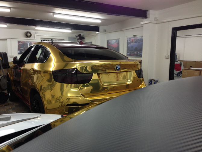 Chrome Gold Wrapping Londoon