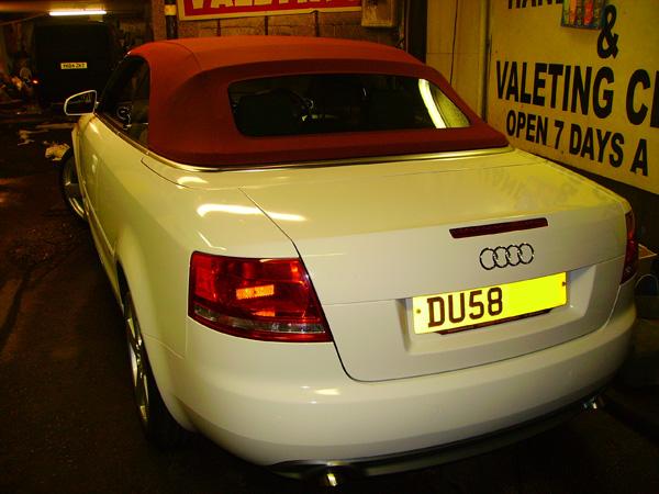Audi A4 Wrapped White