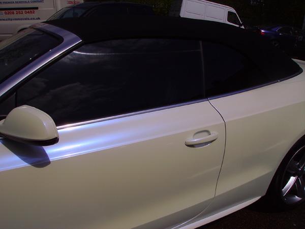Audi A5 White Wrap