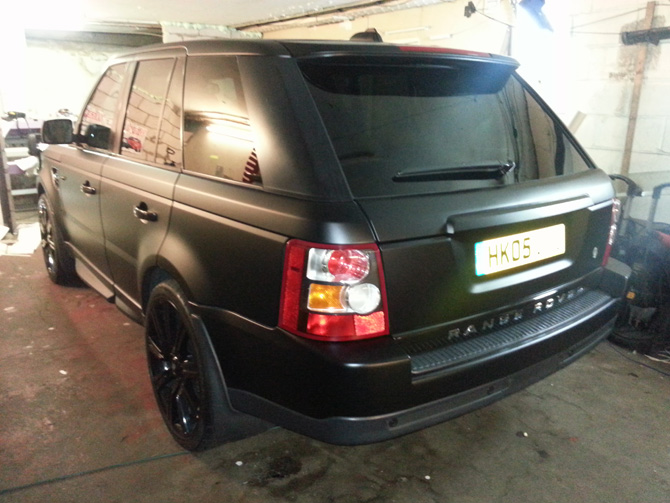 London Window Tinting >> range rover wrapped black