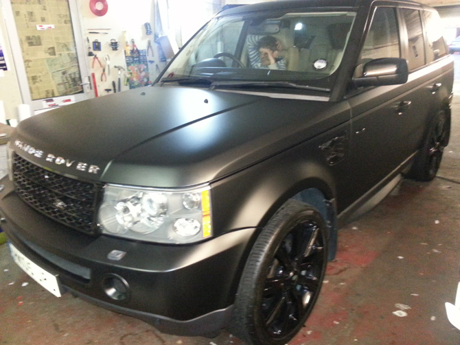 Range Rover Pearl White Flip Color Vinyl Wrapping