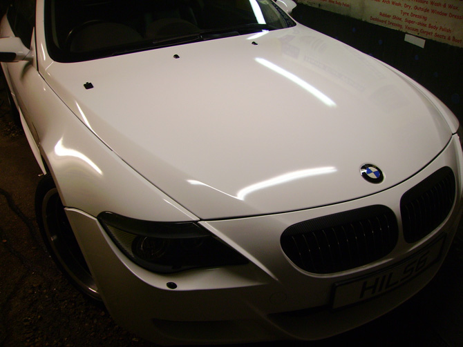 BMW 645 Gloss White Wrap