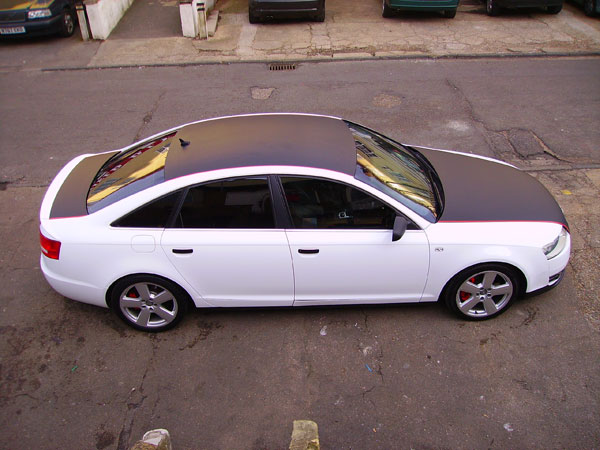 Audi A6 Gloss White Wrap S Line Carbon Fibre Audi