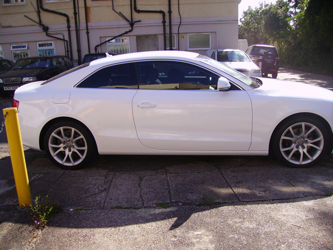 London Window Tinting >> Audi A5 Wrapped Gloss White - Wrapping Cars London | Car ...