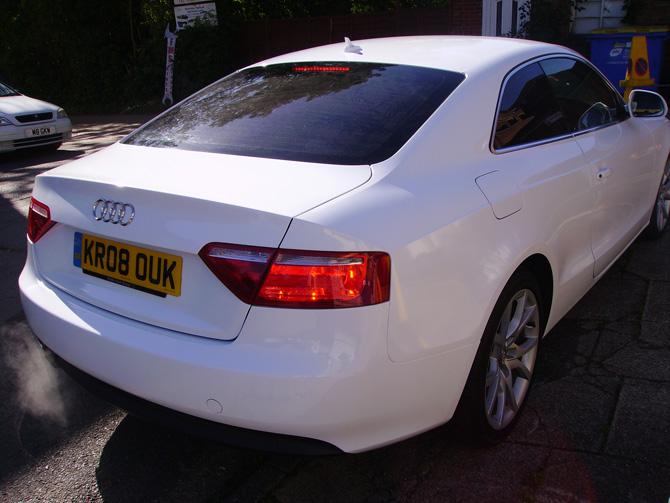Car Wrapping London Vehicle Wrap Van Branding Audi A5 Gloss White Wrap Wrapping Cars London