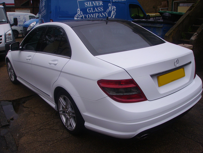 matte-white-mercedes-wrap-london
