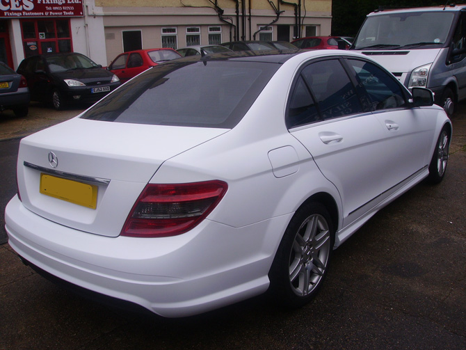 matte-white-mercedes-wrapping-london