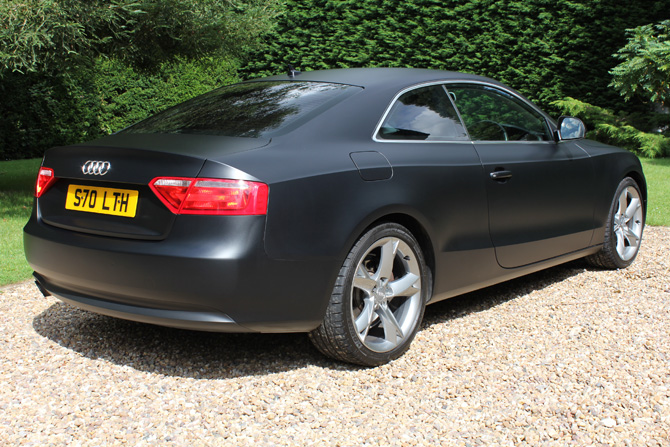 London Window Tinting >> Audi A5 Matte Satin Black | Wrapping Cars London