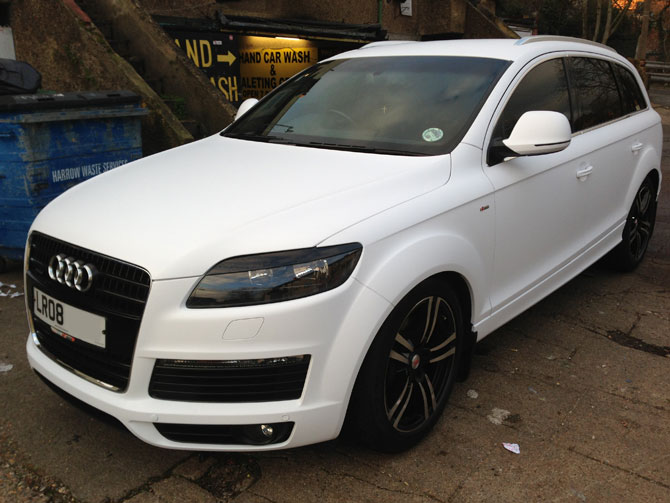matte white Audi Wrap London