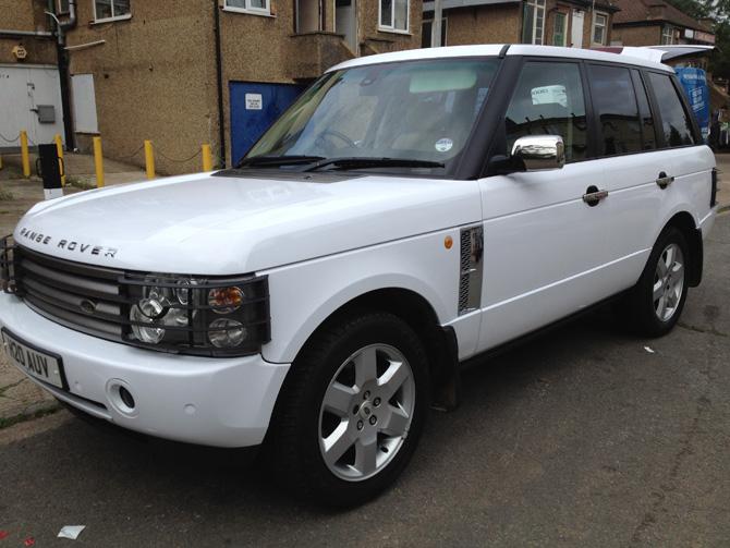Range Rover White Wrap